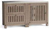 Pottery Barn Abbott Kitchen Two-Drawer & Single-Door Cabinet, Gray Wash