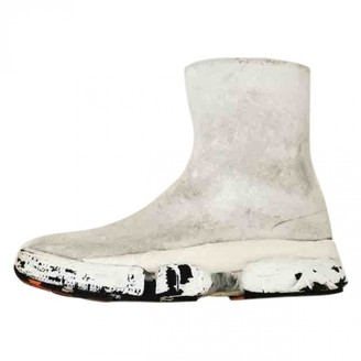 Maison Margiela White Leather Boots