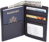 Royce New York Bi-Fold Passport RFID Leather Wallet