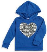 Pinc Premium Girls 2-6x Heart-Accent Knit Hoodie