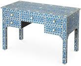 "One Kings Lane Bone Inlay 50"" Desk - Blue/White"