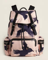 Burberry Printed Birds Sailing Canvas Backpack