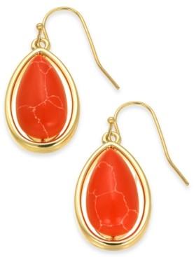 Alfani Gold-Tone Stone Drop Earrings, Created for Macy's