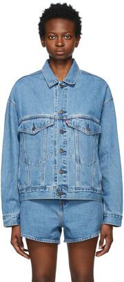 Levi's Blue Denim Stay Loose Trucker Jacket