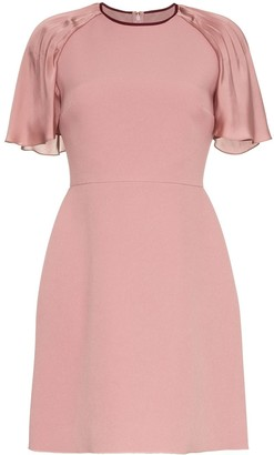 Roksanda Nia pleated sleeve mini dress