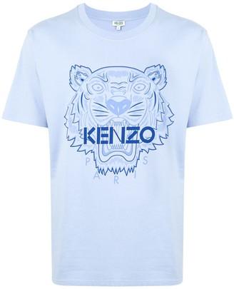 Kenzo cotton tiger print logo T-shirt