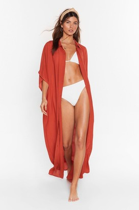 Nasty Gal Womens Here Comes the Sun Maxi Cover-Up Dress - Burnt Orange