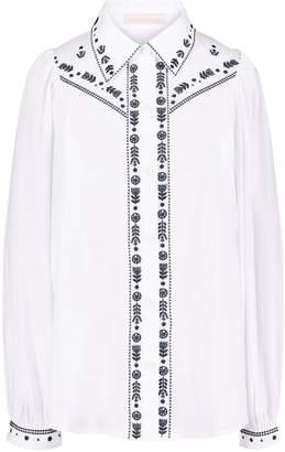 Vanessa Bruno Emboidered poplin Marita shirt
