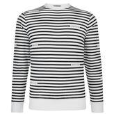 Armani Jeans Striped Logo Top