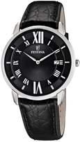 Festina Men's Quartz Watch Klassik F6813/2 with Leather Strap