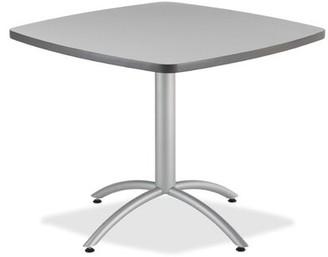"36"" Cafe Table Iceberg Enterprises Top Finish: Gray"
