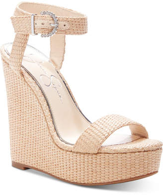 Jessica Simpson Taery Platform Wedge Sandals Women Shoes
