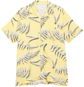 Onia Vacation Fern Print Short Sleeve Shirt