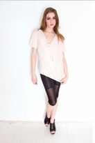 Sauce Soba Drape Tee Shirt Top in Light Pink
