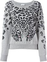 Saint Laurent leopard print sweatshirt