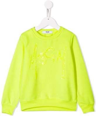 MSGM Kids sequin embellished sweater