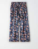 American Eagle Outfitters Don't Ask Why Printed Satin Culotte Pant