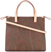 Etro paisley tote bag - women - Cotton/Calf Leather/Polyester/PVC - One Size