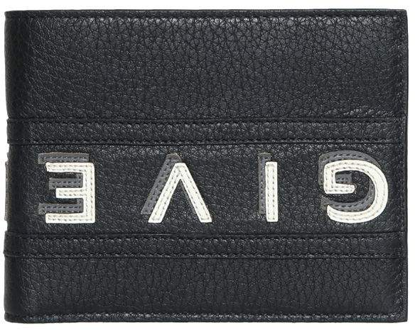 Givenchy Logo Reverse Bi-fold Leather Wallet