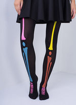 Missy Empire Helda Multicoloured Skeleton Print Tights