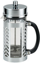 Bonjour 8-Cup Chevron Coffee Glass and Stainless Steel French Press