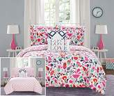 Chic Home Tulip 9 Piece Reversible Comforter Colorful Floral Print Design Bed in a Bag-Sheet Set Decorative Pillows Shams Included Size