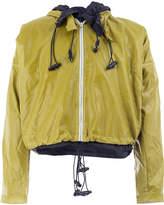 Cottweiler Layered hooded jacket