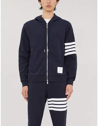Thom Browne Striped cotton and shell hoody