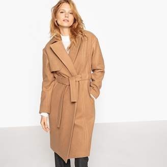 La Redoute COLLECTIONS Wool Blend Coat with Tie Waist