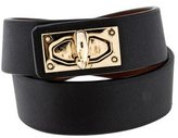 Givenchy Shark Tooth Leather Wrap Bracelet