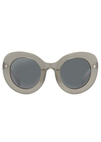 Matthew Williamson Grey Oversized Curved Cat Eye Sunglasses