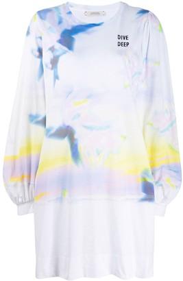 Dorothee Schumacher Blurred-Print Jersey Dress