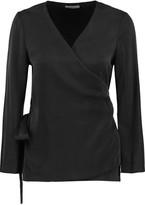 L'Agence Mara washed-silk wrap top
