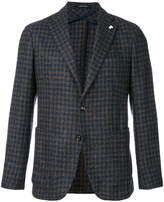 Tagliatore patterned single breasted blazer
