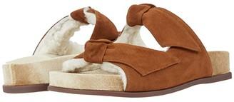 Alexandre Birman Clarita Slide Fur (Syrup/Camel/Natural) Women's Shoes