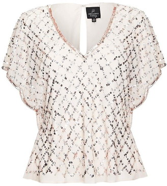 Adrianna Papell Beaded Ggt Blouse
