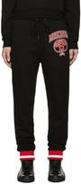 Moschino Black Reverse Logo Lounge Pants