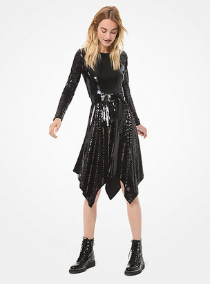 MICHAEL Michael Kors Sequined Handkerchief Dress