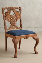 Anthropologie Handcarved Menagerie Owl Dining Chair