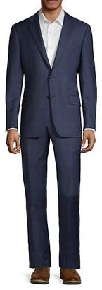 Hickey Freeman Milburn IIM Series Regular-Fit Plaid Wool Suit