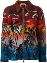 No.21 palm print bomber jacket