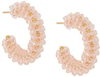 Simone Rocha Wiggle small beaded hoop earrings