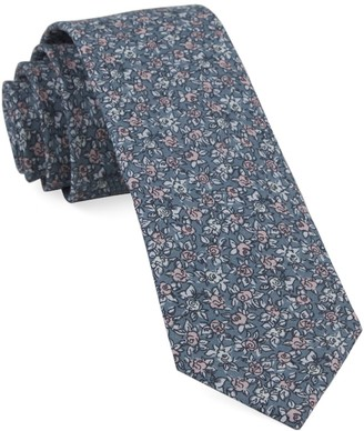 BHLDN BhldnThe Tie Bar Grey Blush Floral Tie