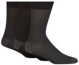 J By Jasper Conran Pack Of Three Black And Dark Grey Pindot Socks