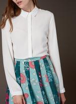 Tu clothing Cream Premium Plain Silk Shirt