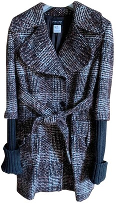 Patrizia Pepe Burgundy Wool Coat for Women