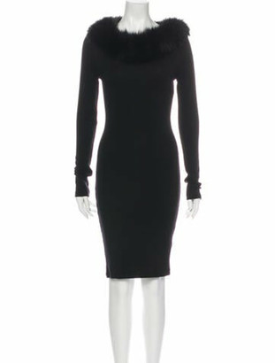 Alice + Olivia Wool Knee-Length Dress Wool