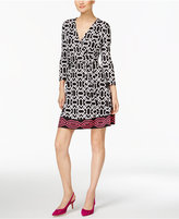 INC International Concepts Petite Geo-Print Wrap Dress, Only at Macy's
