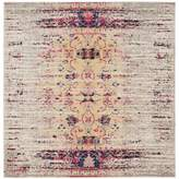 Safavieh Monaco Timeo 6-Foot 7-Inch Square Area Rug in Ivory/Pink