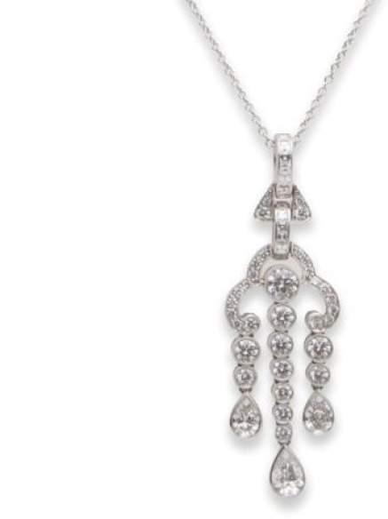 Tiffany & Co. and Co. Diamond Platinum Necklace